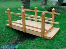 Садовые столы, скамьи, мосты, лежаки из дерева - фото 2