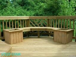 Садовые столы, скамьи, мосты, лежаки из дерева - фото 5