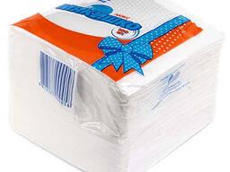 Салфетки бумажные белые «Мякишко Эконом»
