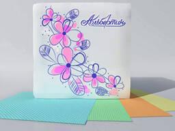 Салфетки бумажные цветные
