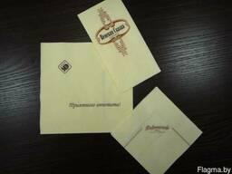 Салфетки с логотипом, печать на салфетках
