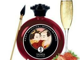 Съедобная краска по телу Shunga Клубничное шампанское 100мл