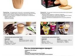 Съедобные вафельные стаканчики и крышечки под кофе
