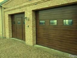 Секционные гаражные ворота с торсионными/растяж пружинами
