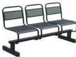 Секция сидений с перфорацией многоместная.