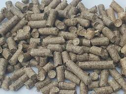 Серые древесные пеллеты Grey wooden pellets
