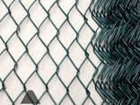 Сетка рабица в полимерном покрытии. Рабица ПВХ. - фото 2