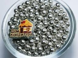 Шарики сахарные серебряные 8 мм, 10 г
