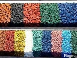 Щебень цветной декоративный