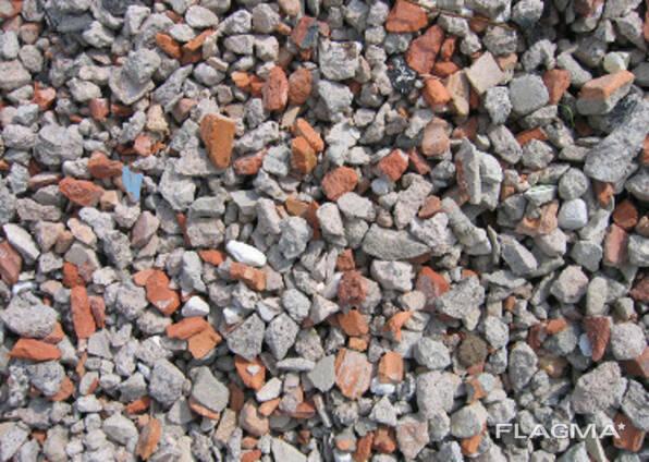 Щебень рециклированный (вторичный) сортированный фр20-40, 40-80. Бетон/кирпич