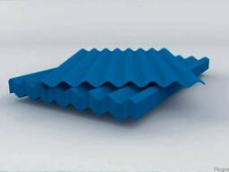 Шифер 8-ми волновой окрашенный - фото 3