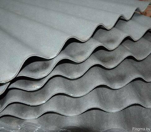Шифер восьмиволновой, серый. 1760х1130х5,8 неокрашенный
