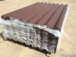 Шифер коричневый волновой (лист 1,75м х 1,13м) 5,2мм