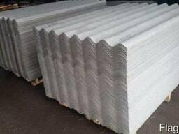 Шифер волновой асбестоцементный серый (1,75м х 1,13м) 5,2мм
