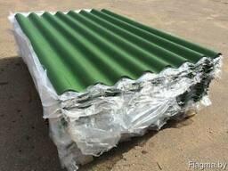 Шифер зеленый восьмиволновой 5.2 мм.