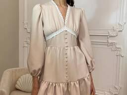 Шикарное платье с кружевом!