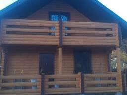 Шлифовка деревянных домов и бань