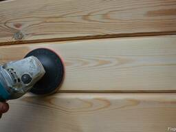 Шлифовка и покраска срубов, деревянных домов и бань