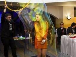 Шоу мыльных пузырей, гигантские пузыри