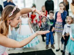 Шоу мыльных пузырей на детский праздник