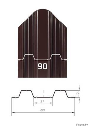 Штакетник металлический Константа односторонний