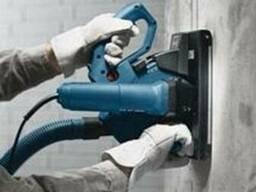 Штробление стен и потолков(электрика-сантехника)Без пыли