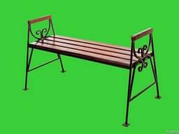 """Скамейка садовая """"Люкс"""" без спинки с подлокотниками"""