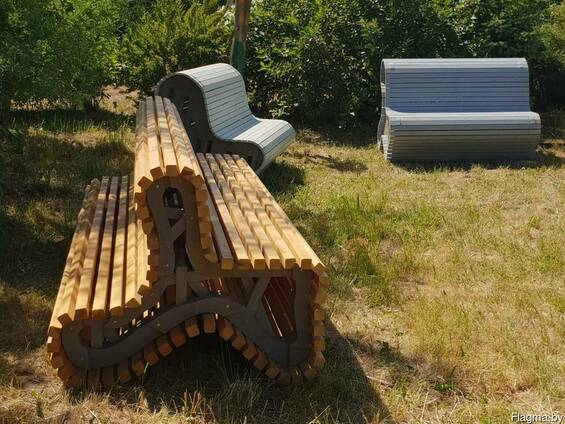 Скамейки из дерева