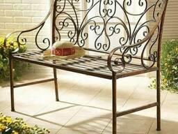 Скамейки, столы, обеденные группы из металла