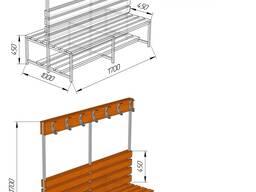 Скамья-вешалка размером 1700*1000*1700 мм