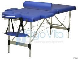 Складной массажный стол алюм ErgoVita Classic 2-х секц,синий
