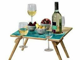 Складные винные столики и столики для пикника. - фото 1