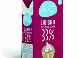 Сливки молочные BRISE 33% 1л ультрапастеризованные