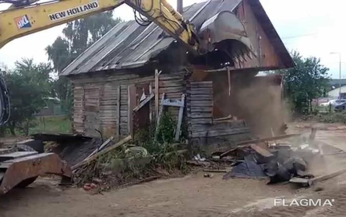 Снос домов и демонтаж любых строений.