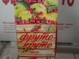 Сок яблочно-клюквенный с сахаром 1 литр