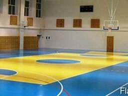 Спортивные ПВХ-покрытия (Спортивный линолеум).