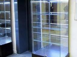 Стеклянная витрина собственного производства