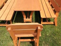 Садовая мебель из натурального дерева сосна