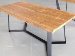 Стол обеденный дубовый (массив, масло) LOFT-002 (1800х900х750)