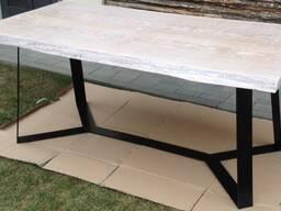 Стол обеденный дубовый (массив, белый воск) LOFT-001 (1800х900х750)