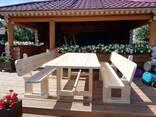 Стол и скамейки (садовая мебель) - фото 3