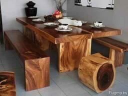 Стол из массива (дуб, ясень, вяз, клён)