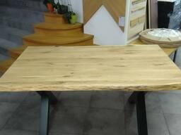 Стол из массива дуба с «живыми краями» в стиле Loft