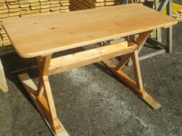 Стол садовый деревянный. Стол кухонный дачный. Вариант 2