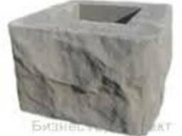 Столб наборный бетонный