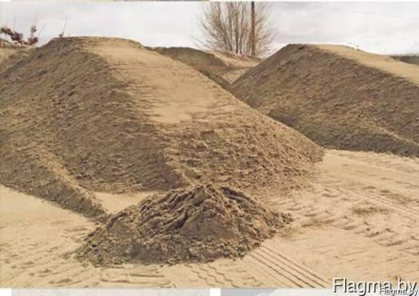 Строительный песок . Речной песок. Природный гравий
