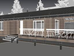 Строительный проект каркасного дома, проект дома сип-панели