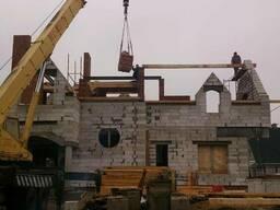 Строительство домов, зданий и сооружений.