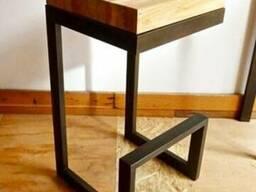 Стул барный Loft (металл + дерев. сосна)