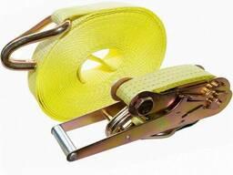 Стяжной ремень СРД для крепления груза 10,0т длинна любая